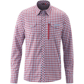 Maier Sports Peyo Camiseta Manga Larga Hombre, blue/red check